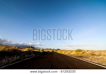 Long Empty Desert Road