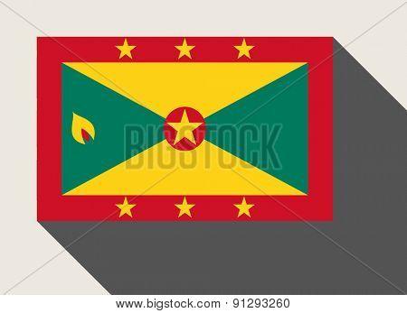 Grenada flag in flat web design style.