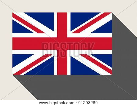 Great Britain flag in flat web design style.