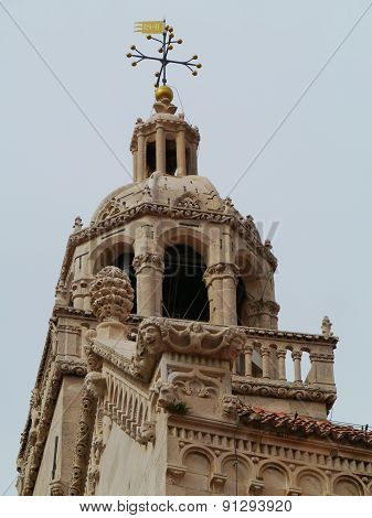 Ornamental detail of the tower of the Saint Marco