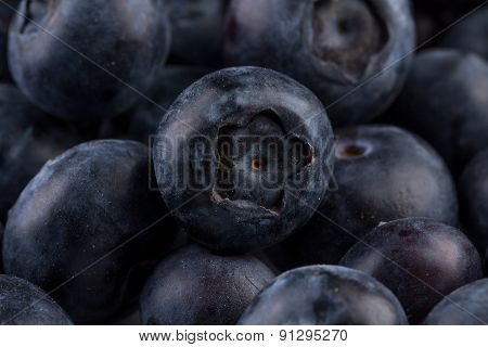 Blueberries On Stone Plate Background
