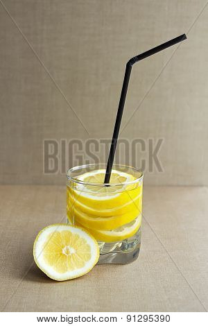Water With Fresh Lemon
