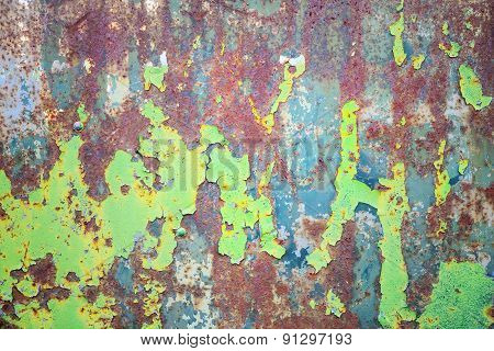 Multicolored Metal Surface