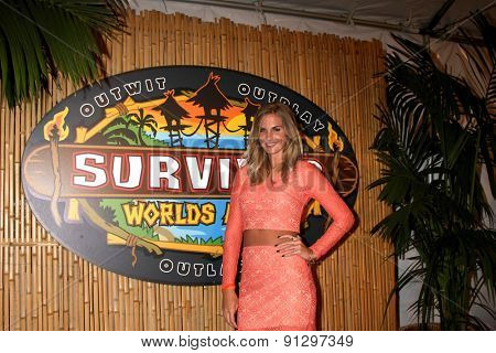 LOS ANGELES - MAY 20:  Sierra Dawn Thomas at the Survivor Season 30 Finale at the CBS Radford on May 20, 2015 in Studio City, CA