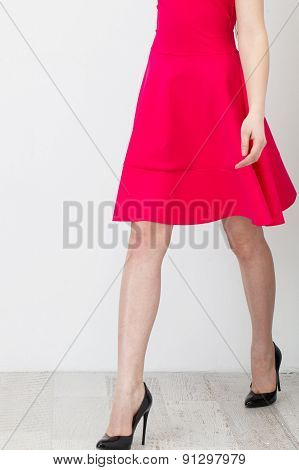 Woman In Pink Dress