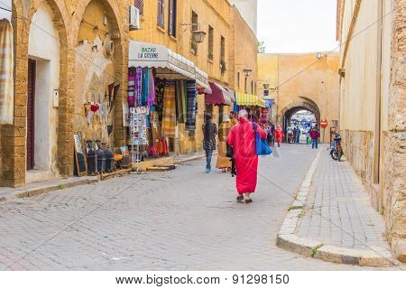 EL JADIDA, MOROCCO, APRIL 5, 2015: Medina in a historic city on the Atlantic coast of Morocco, in the province of El Jadida.