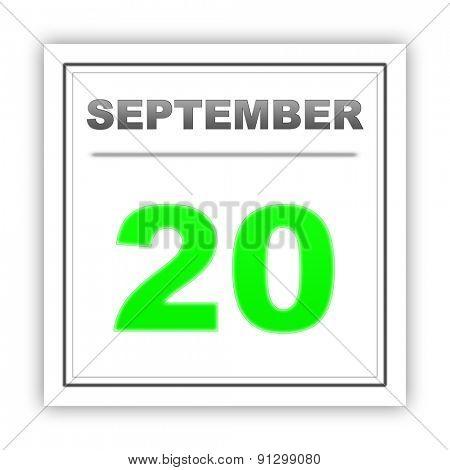 September 20. Day on the calendar. 3d