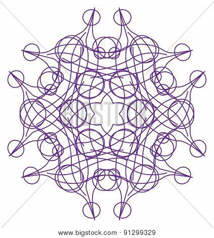 Tracery Pattern - Violet Six-sided Tracery Pattern