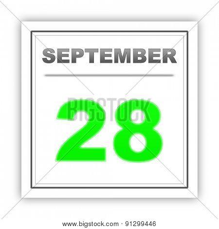 September 28. Day on the calendar. 3d