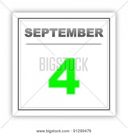 September 4. Day on the calendar. 3d