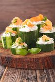 picture of canapes  - cucumber canape - JPG