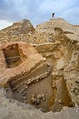picture of jericho  - Old ruins and remains in Tell es - JPG