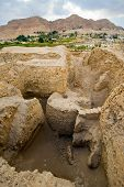 foto of jericho  - Old ruins and remains in Tell es - JPG
