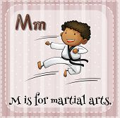 foto of letter m  - Flashcard letter M is for martial arts - JPG