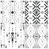 stock photo of aztec  - Set of Geometric background - JPG
