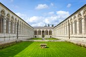 stock photo of cemetery  - Architecture of Monumental Cemetery in Pisa - JPG