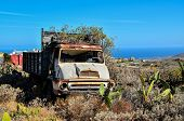 pic of truck farm  - Rusty Abandoned Truck on the Desert - JPG