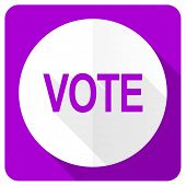 image of voting  - vote pink flat icon  - JPG