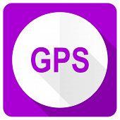 pic of gps  - gps pink flat icon  - JPG