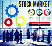 picture of stock market data  - Stock Market Stock Exchange Financial Economy Concept - JPG