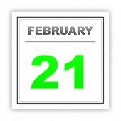 stock photo of february  - February 21 - JPG