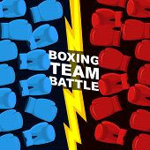 picture of boxing  - Boxing team battle - JPG