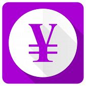 image of yen  - yen pink flat icon   - JPG