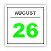 pic of august calendar  - August 26 - JPG