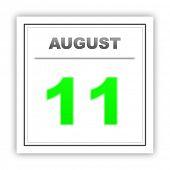 image of august calendar  - August 11 - JPG