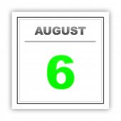 pic of august calendar  - August 6 - JPG