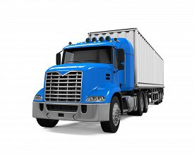picture of trucks  - Cargo Delivery Truck isolated on white background - JPG