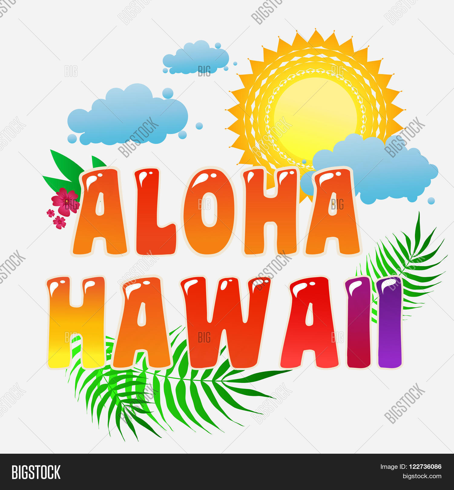 T shirt design hawaii - Aloha Hawaii Typography Art Summer Background Inspirational And Motivational Tropical Print For T