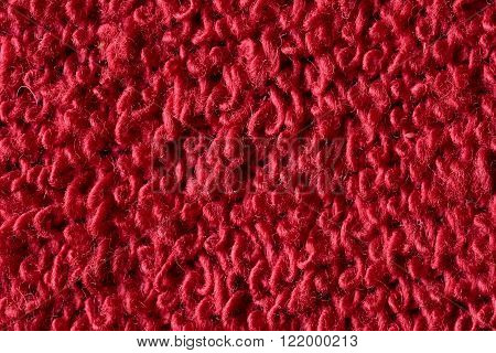 Red Knitted Fabric Macro