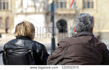 photo of a senior couple visiting Budapest
