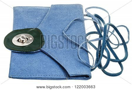Blue Clutch Bag From Natural Stingray Leather