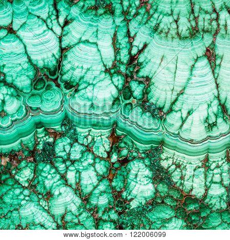 Texture Of Malachite Mineral Gem Stone