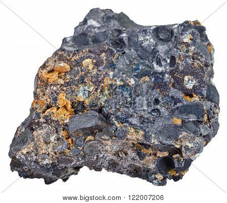 Hematite (iron Ore) With Magnetite Crystals