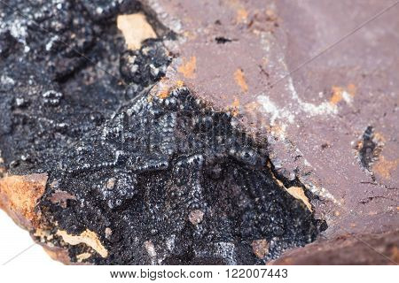 Goethite Mineral On Limonite Brown Hematite
