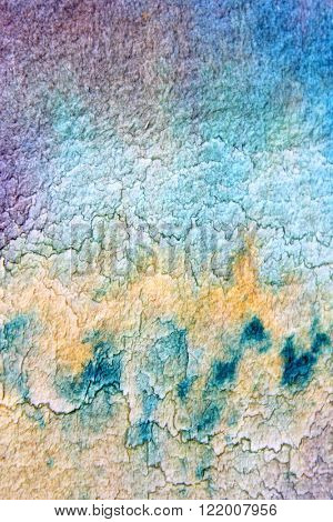Macro Blue Yellow and Purple Watercolor 16