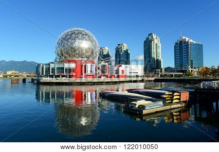 VANCOUVER - Nov 10: Vancouver Science World on November 10th, 2014 in Vancouver, Province of British Columbia, Canada. This building was designed for EXPO 86.
