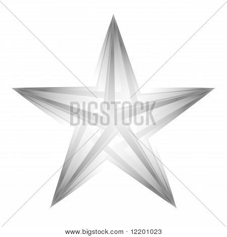 Abstract Futuristic Star On White Background