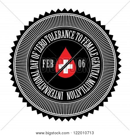 International Day of Zero Tolerance for Female Genital Mutilation, seal, logo