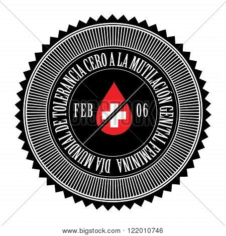 International Day of Zero Tolerance for Female Genital Mutilation seal logo