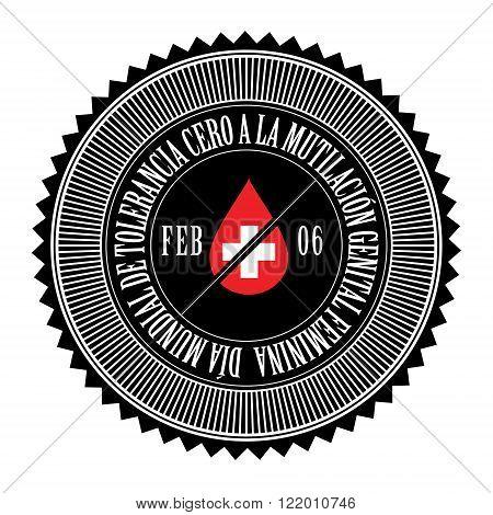 International Day of Zero Tolerance for Female Genital Mutilation seal logo