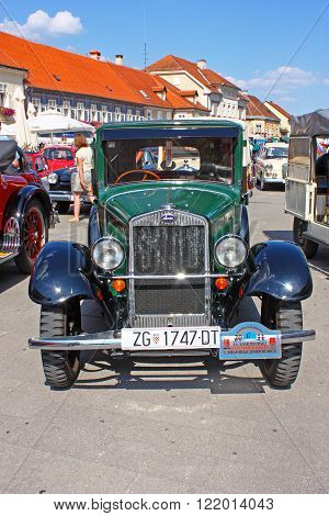 CROATIA SAMOBOR 17 JULY 2011: Luxury Car Laurin and Clement Skoda 120 ''14. Oldtimer Rally'' in Samobor Croatia