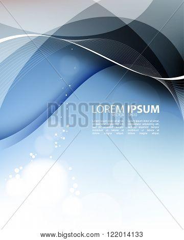 eps10 vector elegant transparency effect wave lines elements background