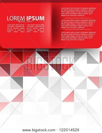 eps10 vector geometric triangular shape elements corporate business background