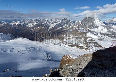 clouds covering Mount Matterhorn, Swiss Alps, Canton of Valais, Switzerland