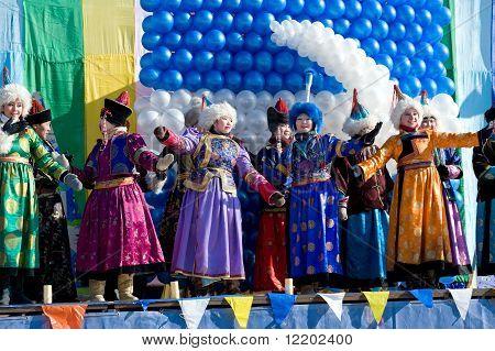 Mongolian Singers At Shrovetide