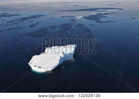 Iceberg aerial view
